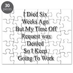 I Died Six Weeks Ago Puzzle