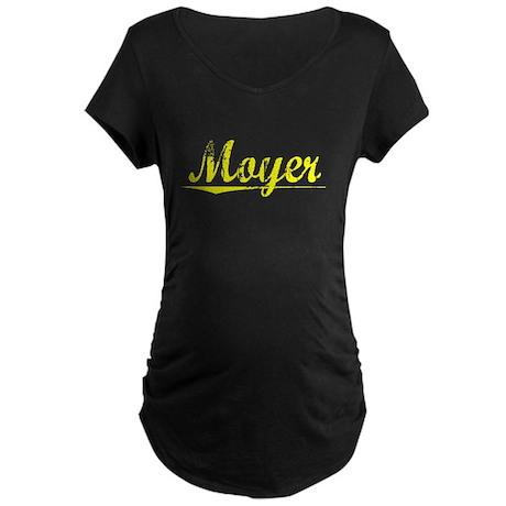 Moyer, Yellow Maternity Dark T-Shirt