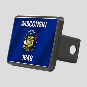 Flag of Wisconsin Rectangular Hitch Cover