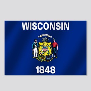 Flag of Wisconsin Postcards (Package of 8)