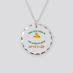 Cute Sister-In-Law Necklace Circle Charm