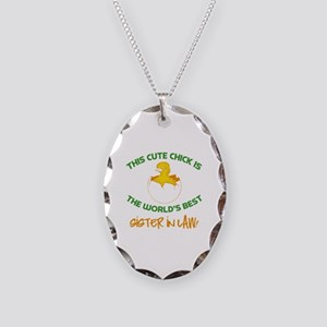 Cute Sister-In-Law Necklace Oval Charm