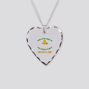 Cute Sister-In-Law Necklace Heart Charm