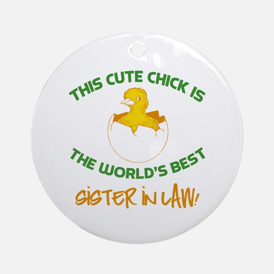 Cute Sister-In-Law Ornament (Round)