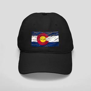 Colorado Vintage Flag Black Cap