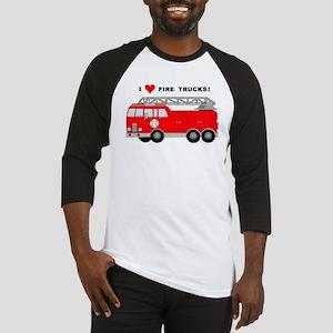 I Heart Fire Trucks! Baseball Jersey