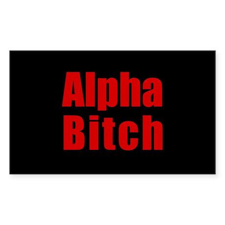 Alpha Bitch Oval Sticker