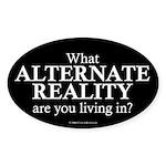 Alternate Reality Oval Sticker