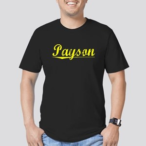 Payson, Yellow Men's Fitted T-Shirt (dark)