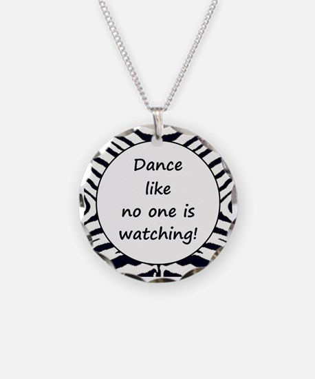 DANCE... Necklace Circle Charm