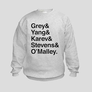 Grey, Yang, Karev, Stevens, Omalley Kids Sweatshir