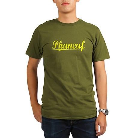Phaneuf, Yellow Organic Men's T-Shirt (dark)