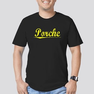 Porche, Yellow Men's Fitted T-Shirt (dark)