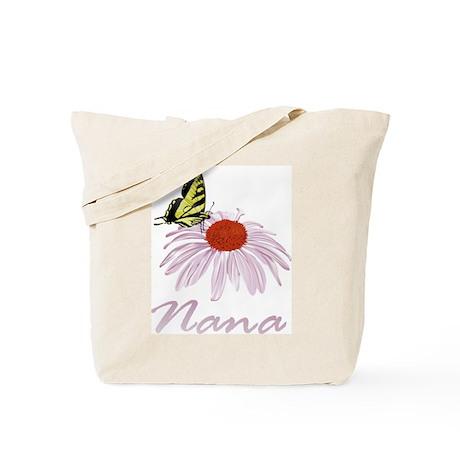 Nana Butterfly Daisy Tote Bag