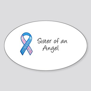 Sister of an Angel Oval Sticker