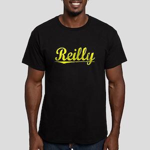 Reilly, Yellow Men's Fitted T-Shirt (dark)