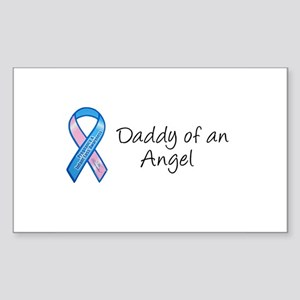 Daddy of an Angel Rectangle Sticker