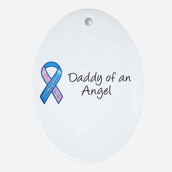 Daddy of an Angel Oval Ornament