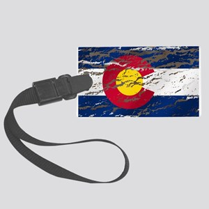 Colorado Vintage Flag Large Luggage Tag
