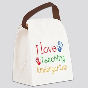 I Love Kindergarten Canvas Lunch Bag