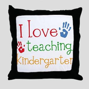 I Love Kindergarten Throw Pillow
