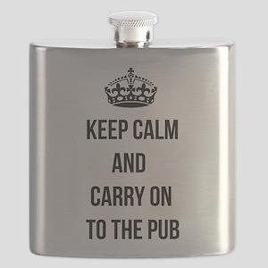 Keep calm carry on parody Flask