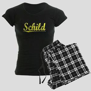 Schild, Yellow Women's Dark Pajamas
