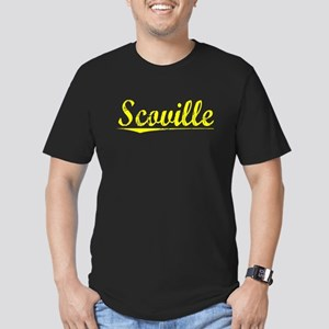 Scoville, Yellow Men's Fitted T-Shirt (dark)