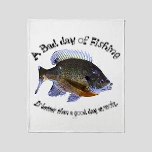 Fish or work Throw Blanket