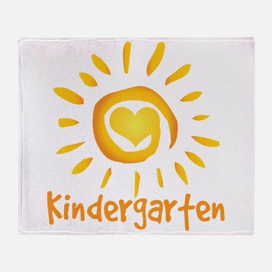 Kindergarten School Sun Throw Blanket