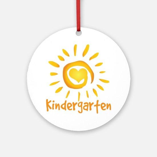 Kindergarten School Sun Ornament (Round)