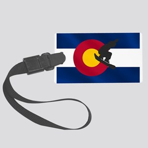Colorado Snowboard Flag Large Luggage Tag