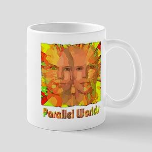 parallel worlds abstract art illustration Mug