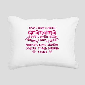 Custom grand kids Rectangular Canvas Pillow