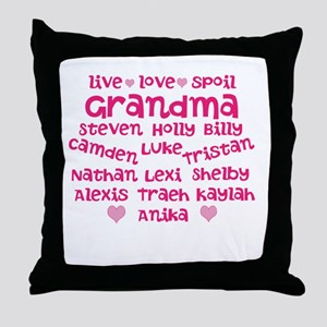 Custom grand kids Throw Pillow