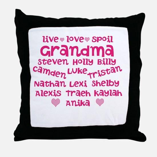 Custom grand kids Throw Pillow