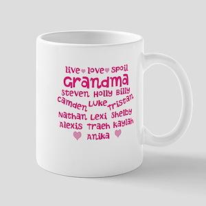 Custom grand kids Mug