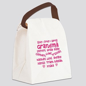 Custom grand kids Canvas Lunch Bag