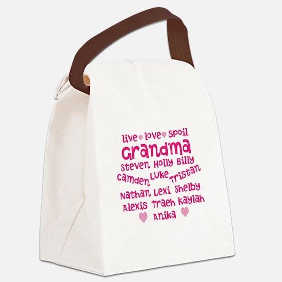 Custom grand kids Canvas Lunch Bag