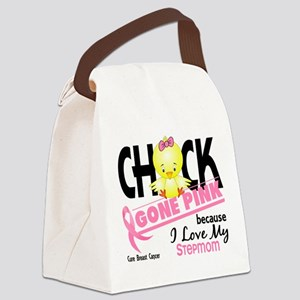 Chick Gone Pink For Breast Cancer Canvas Lunch Bag