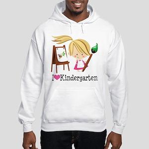 I Heart Kindergarten Hooded Sweatshirt