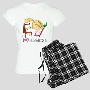 I Heart Kindergarten Women's Light Pajamas