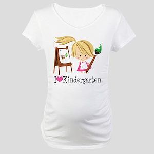 I Heart Kindergarten Maternity T-Shirt