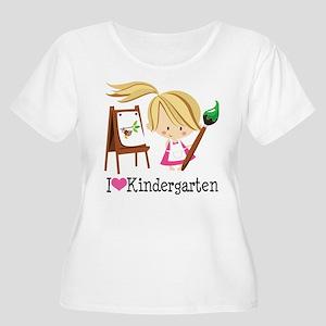 I Heart Kindergarten Women's Plus Size Scoop Neck