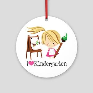 I Heart Kindergarten Ornament (Round)