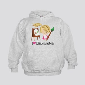 I Heart Kindergarten Kids Hoodie