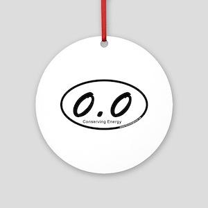 Zero Point Zero Ornament (Round)