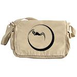 Moon and Bat Messenger Bag