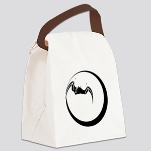 Moon and Bat Canvas Lunch Bag