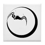 Moon and Bat Tile Coaster